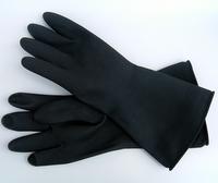 כפפות גומי שחורות